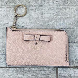 Kate Spade LIGHT PINK bow slim wallet